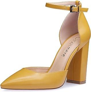 Castamere Donna Cinturino alla Caviglia Sandali Tacco a Blocco Punta Appuntito Scarpe col Tacco 10CM