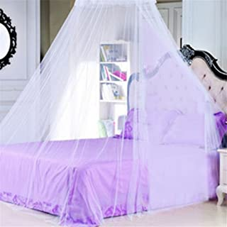 Zarabe New Lace Bed Canopy Mosquito Net Suitable for 1m-1.5m (White)