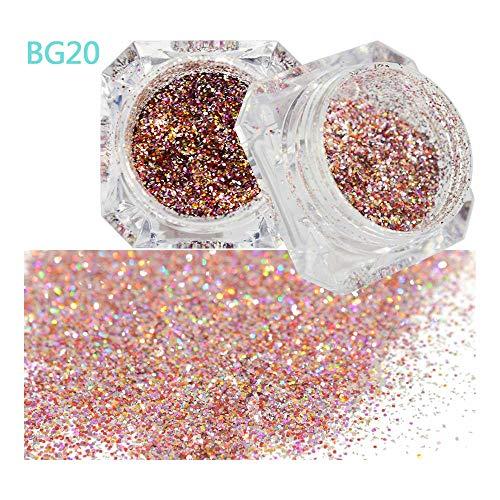 1 STÜCKE Glänzenden Diamant Platin Nail art Glitter Pulver Galaxy Laser Holographische Staub Pailletten Decor Starry PigmentJIBG01-26 BG20