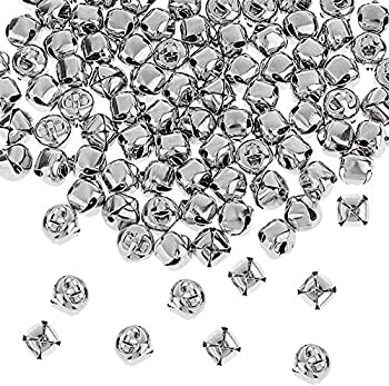 100Pcs Jingle Bells,1 Inch Silver Craft Bells,DIY Bells for Christamas,Wreath,Holiday Home Dcecoration