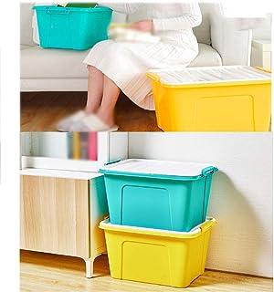 MU Ménage Portable Boîte De Rangement en Bois Massif, Pack 3 Vêtements Organisateur Couverture De Jouet Boîte en Plastique...