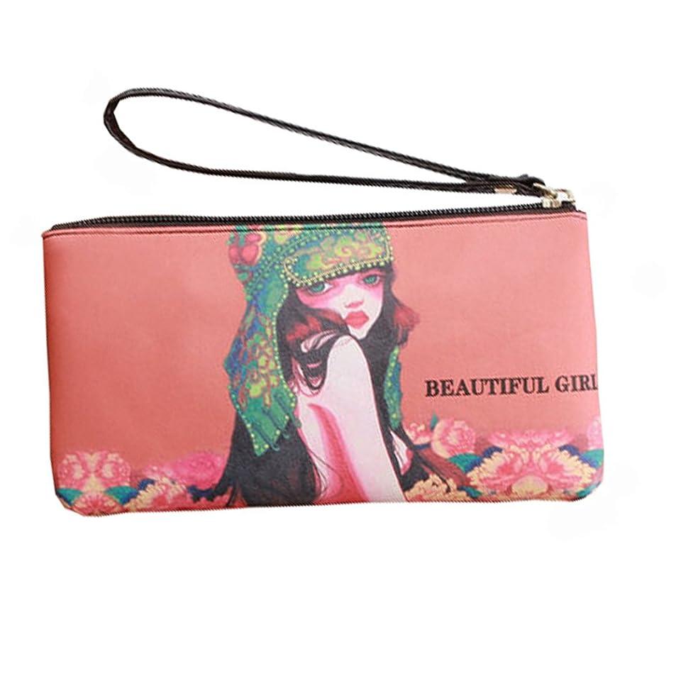 クール枠気難しいスリムロングセクションバッグ財布財布ハンドバッグかわいいレディースバッグPUレザー