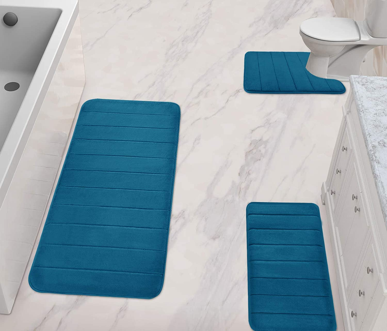 National uniform free shipping Yimobra Finally resale start 3 Pieces Memory Foam Bath Sets + 44.1x24 Mat 31.5x19.8