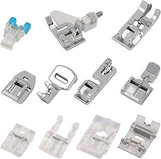 Gobesty - Pies para máquina de coser, 11 piezas, kit de prensatelas, accesorios de costura para máquinas de coser Brother ...
