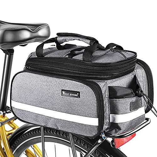 FSYEU Fahrrad Gepäckträgertasche, 3in1 Fahrradtasche Gepäckträger Tasche wasserdichte, Rucksack und Umhängetasche, Multifunktionale Sattel Tasche für MTB Rennrad Gepäckträger, 20L