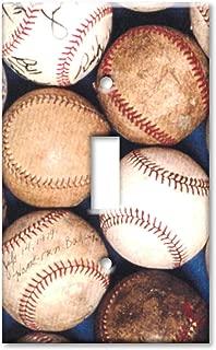Old Baseballs Metal Wall Plate - Single Gang Toggle