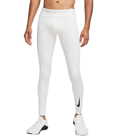 Nike Pro Warm Tights (White/White/Black) Men