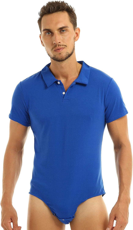 Nimiya Men's Short Sleeve Press Button Pie Tops One New life Crotch Shirt Ranking TOP11