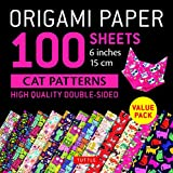 Origami Paper 100 sheets Cat Patterns 6 (15 cm): Tuttle Origami Paper: High-Quality Double-Sided Origami Sheets Printed with 12 Different Patterns: ... Projects Included (Origami Paper Pack 6 Inch)