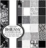 Bo Bunny Single-Sided Paper Pad 12in x 12in 48 Pack - Tuxedos & Tiaras