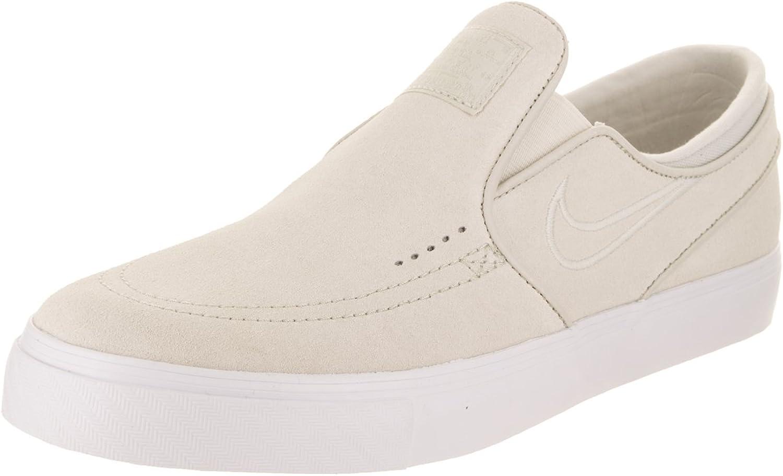 Nike Men's Zoom Stefan Janoski Slip Low-Top Sneakers, Multicolour Light Bone White 100, 10 UK