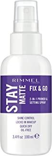 Rimmel London Stay Matte Multi Use Transparent Setting Spray, 3.38 Fl. Oz.