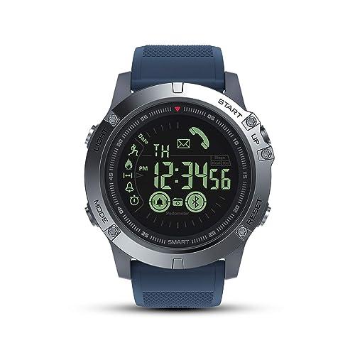 Montre Connectée Homme Sport GOKOO Smartwatch Montre Intelligente Étanche IP67 Bluetooth Tracker d'Activité Podomètre Caméra à Distante Notification de Message Chronomètre pour Android et iOS Phone