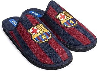 FC Barcelona - Scarpe da ginnastica in spugna bicolore chiuse, da uomo, per l'inverno, l'autunno