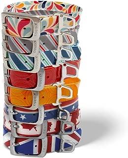 Kurgo Waterproof Muck Collar & Leash for Dogs | Matching Collar & Leash for Pets | Blue, Red, Orange, Multicolor, Patriotic / American Flag, Union Jack, Maple Leaf | Small, Medium, & Large Pet Collar