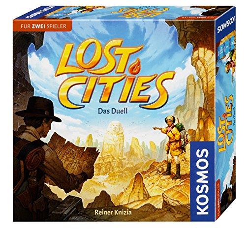 KOSMOS 694135 Lost Cities - Das Duell, spannendes Brettspiel, Abenteuerspiel für 2 Personen ab 10 Jahre, Familienspiel, Spiel für 2, Gesellschaftsspiel