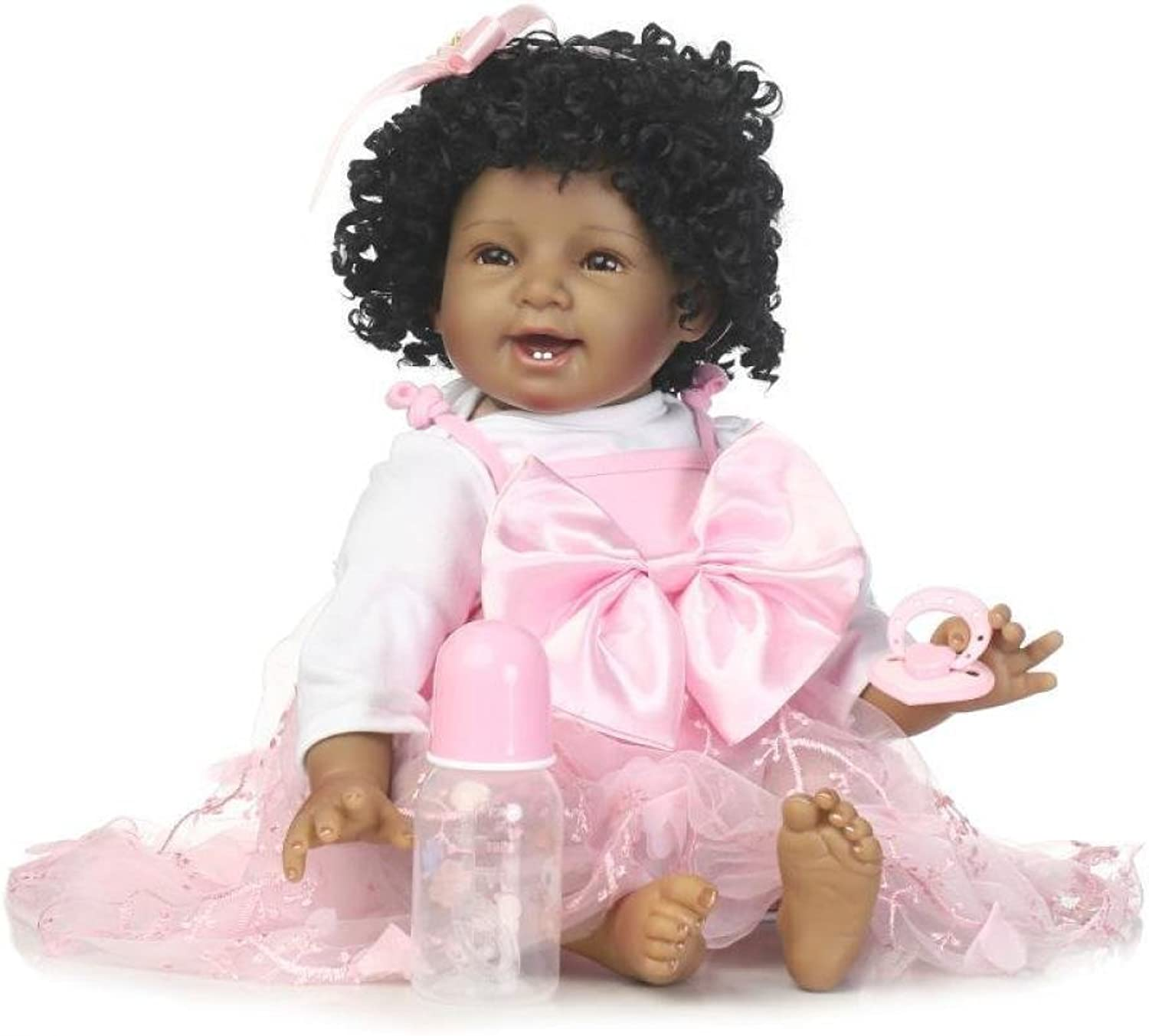 JHGFRT 55 cm Reborn Babypuppen Junge Baby Doll Look Real Silikon