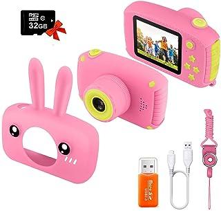 Kids Camera, Digital Camera 2.0 inch for Children with 12MP HD 1080P Video Recorder & Lanyard Anti-Drop Design Mini SLR Su...