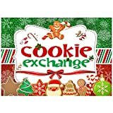 Allenjoy Christmas Cookie Exchange Party Backdrop Red Green Merry Xmas Santa Snowman Cocoa Cookies...