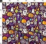 Halloween, Geist, Süßigkeiten, Fledermaus, Kürbis,