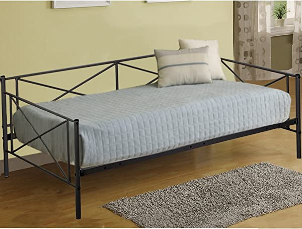 Daybed Frame Twin Metal Platform Bed Mattress Foundation Box Spring For Living Room Heavy Duty Mattress Not Include