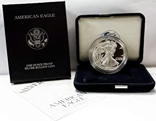 2000 P Proof American Eagle Silver Dollar with Original Packaging and COA $1 PR DCAM US Mint