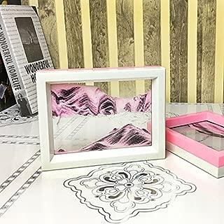 CooCu Moving Sand Art Picture,Desktop Art Toys And As A Gift(Sakura World) - Black,White,Pink