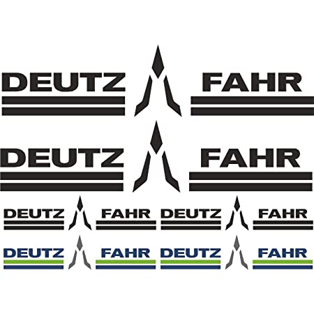 Myrockshirt Deutz Fahr 3 Colour Logo Lettering Xxl Sponsor Set Approx 40 X 20 Cm Car Sticker Uv And Car Wash Proof Professional Quality Wall Sticker Auto