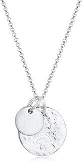 Damen Halskette Kette Anhänger Großes Blatt Farbe Silber 0624