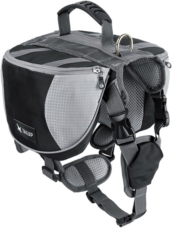 Dog Backpack Pet Outdoors Backpack Large Dog Adjustable Saddle Bag, Saddle Bag for Camping Hiking Training ( color   Black , Size   L )