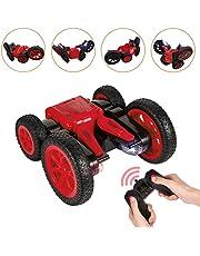 Distianert ラジコンカー スタントカー リモコン付き おもちゃ 2.4GHz無線 360度回転ジャンプ こども向け 四輪駆動