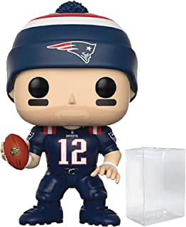 Funko NFL: Tom Brady (Patriots Color Rush) Pop! Vinyl Figure (Includes Compatible Pop Box Protector Case)