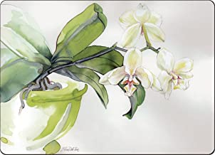 Cala Home 4 Premium Hardboard Placemats Table Mats, White Orchid