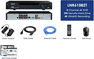 Lorex LNR61082T 4K NVR w/ 8 Channels (POE) 2TB HDD