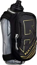 Nathan SpeedDraw Plus Insulated Flask, Handheld Running Water Bottle. Grip Free for Runners, Hiking etc. (Black / Metallic...
