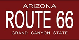 Signs 4 Fun STSR19 Route 66 AZ Plate-Red Sticker