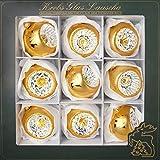 Cáncer Cristal Lauscha–Reflex Bolas–Bolas de Navidad–8cm