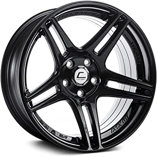 Cosmis Racing S5R 17x9 +22mm 5x114.3 Black Rim Wheel