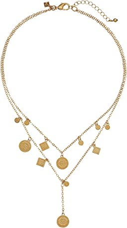 Etched Coins Layered Necklace