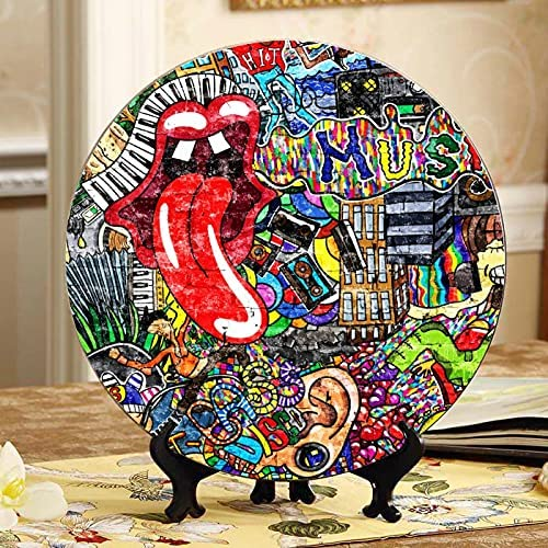 Music Collage On A Large D Over Cheap mail order specialty store item handling ☆ Graffiti Brick Decorative-Plates Wall
