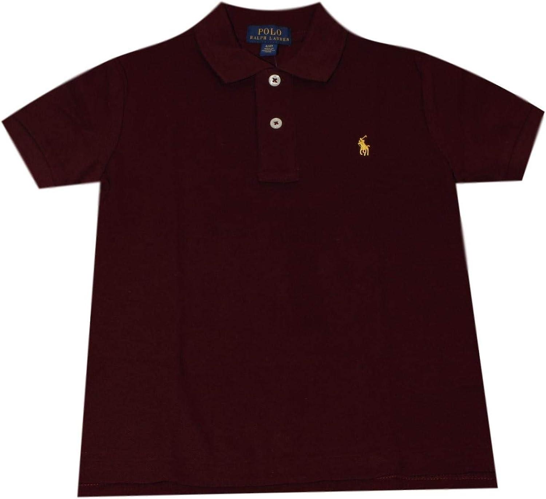 Polo Ralph Lauren Little Boys Polo Pique (3/3T, Red Burgundy (Yellow Pony))