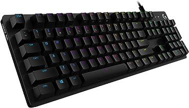 Logitech G512 Mechanical Gaming Keyboard Special Edition,RGB Lightsync Backlit Keys,GX Blue Clicky Key Switches,Brushed Al...
