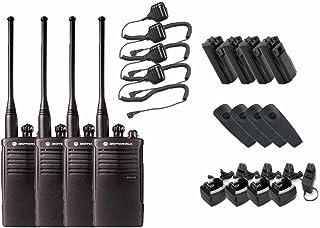 Motorola RDU4100 Business Two-Way Radios with HKLN4606 Speaker Mics 4-Pack