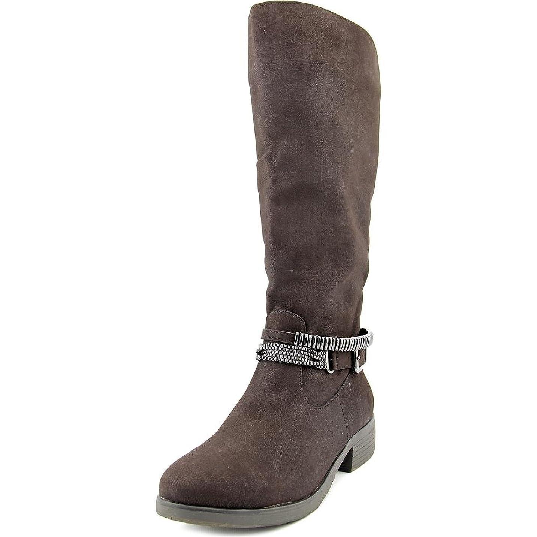 研究所二度中止しますStyle & Co. Womens Wardd WIDE CALF Wide Calf Closed Toe Motorcycle Boots
