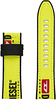 Cinturino da uomo Diesel Full Guard 2,5-24 mm in nylon giallo DZT0013