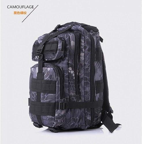 JKLSNMA Chaussures de randonnée Multifuctional Outdoor Sport Camouflage Hiking Travel Shoulder Bag Camping Bag Waterproof Nylon Material Backpack
