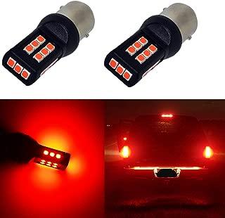 Alla Lighting BA15S 1156 Red LED Bulbs Xtreme Super Bright BA15S 7506 1156 LED Bulb High Power 3035 21-SMD LED 1156 Bulb for Cars Trucks Motorcycle Turn Signal Brake Stop Tail Lights