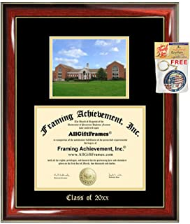 Diploma Frame Big UMUC University of Maryland University Graduation Gift Case Embossed Picture Frames Engraving Degree Graduate Bachelor Masters MBA PHD Doctorate School