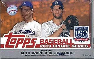 2019 Topps Update Baseball Retail Box (24 Packs/16 Cards: 1 Perennial All Stars Insert)