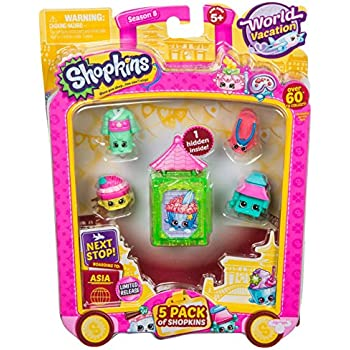 Shopkins S8 W2 Asia Toy 5 Pack | Shopkin.Toys - Image 1